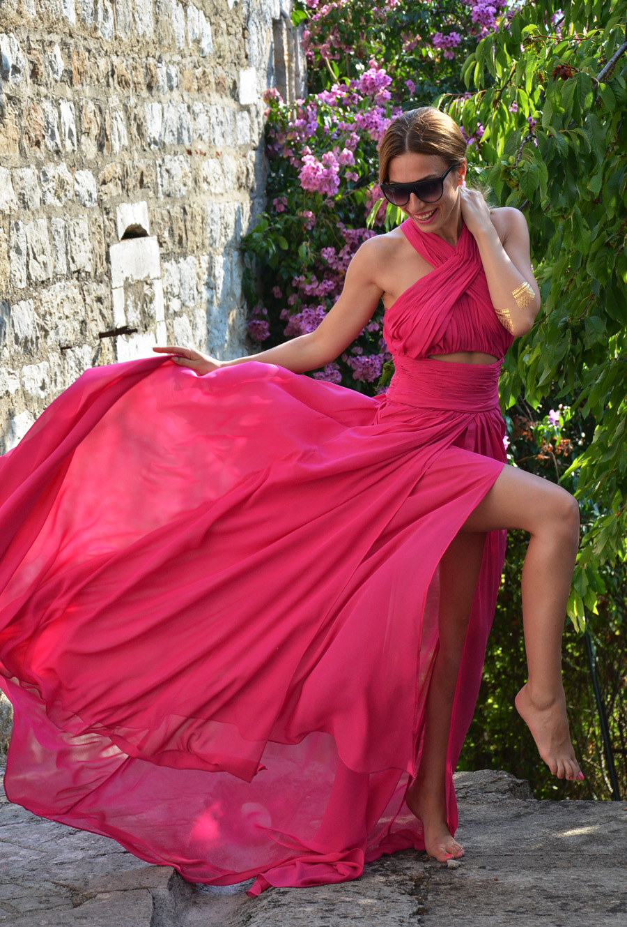 Fuchsia Pink Dress / Summer 2015