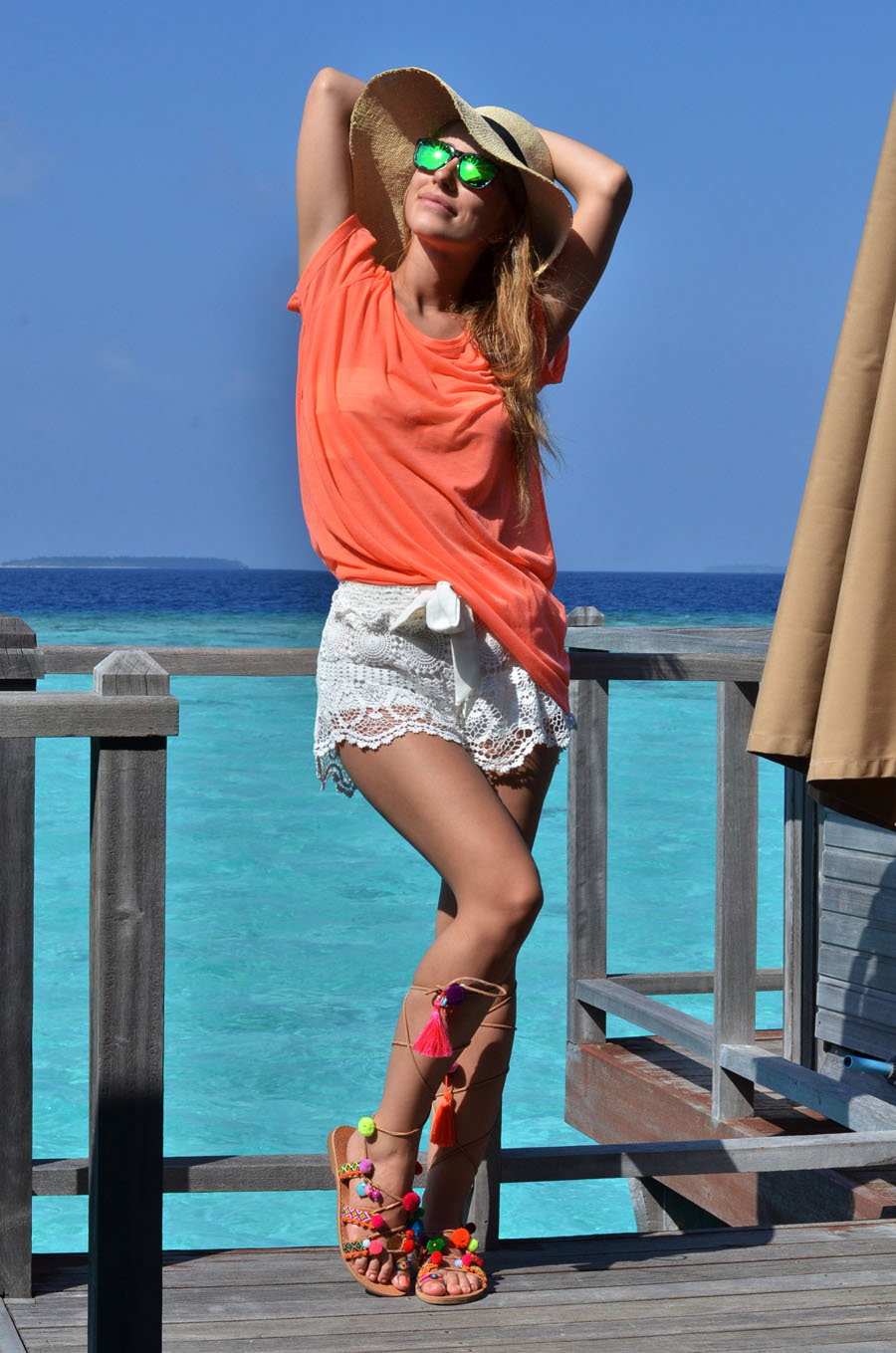 Maldives Boho Beach Outfit – Water Villa – The Sun Siyam Iru Fushi Maldives